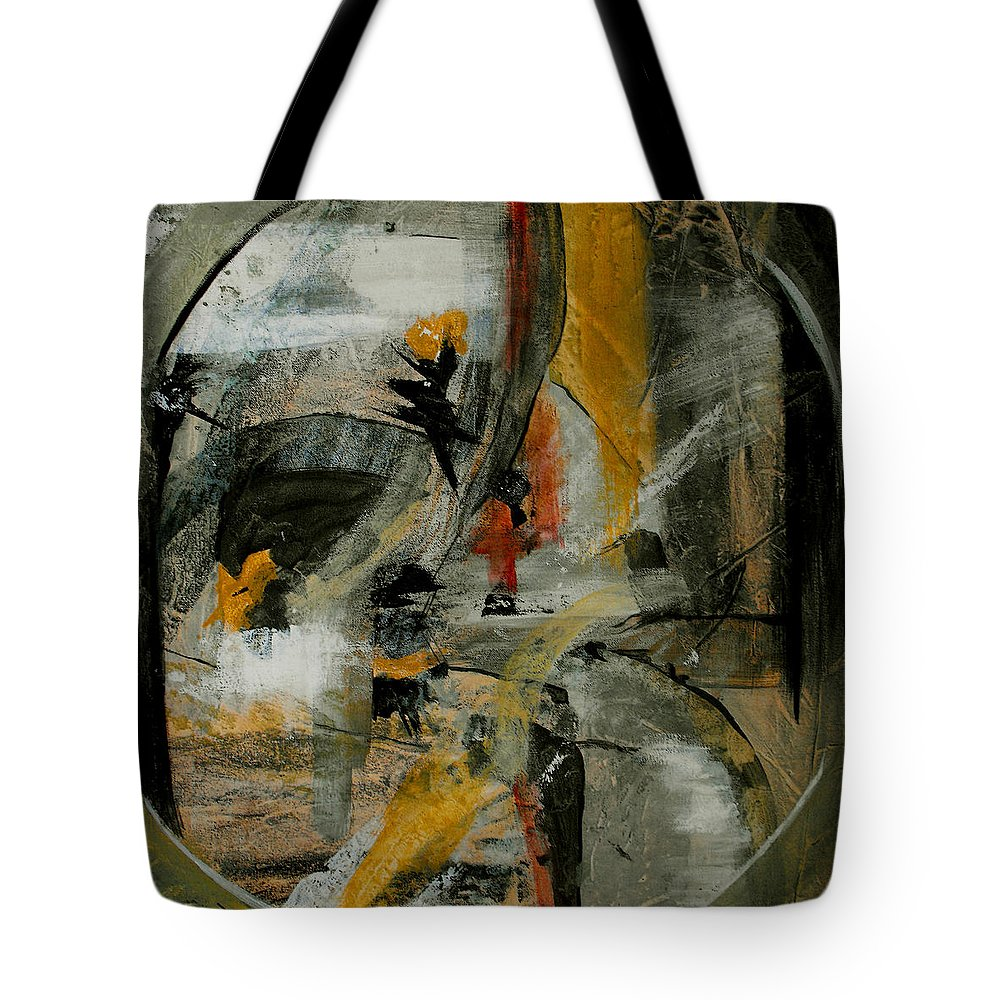 Abstract Tote Bag featuring the painting Calm Out Of Chaos by Ruth Palmer