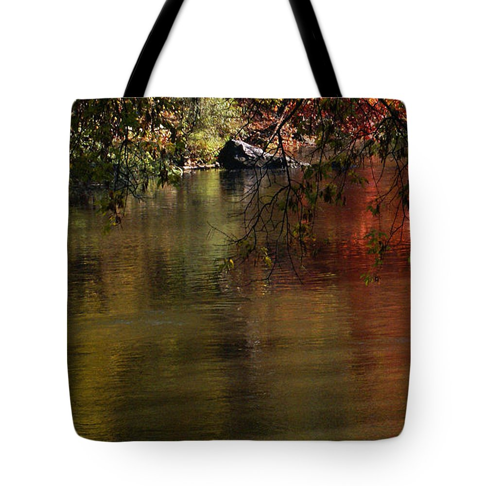River Tote Bag featuring the photograph Calm Reflection by Linda Shafer