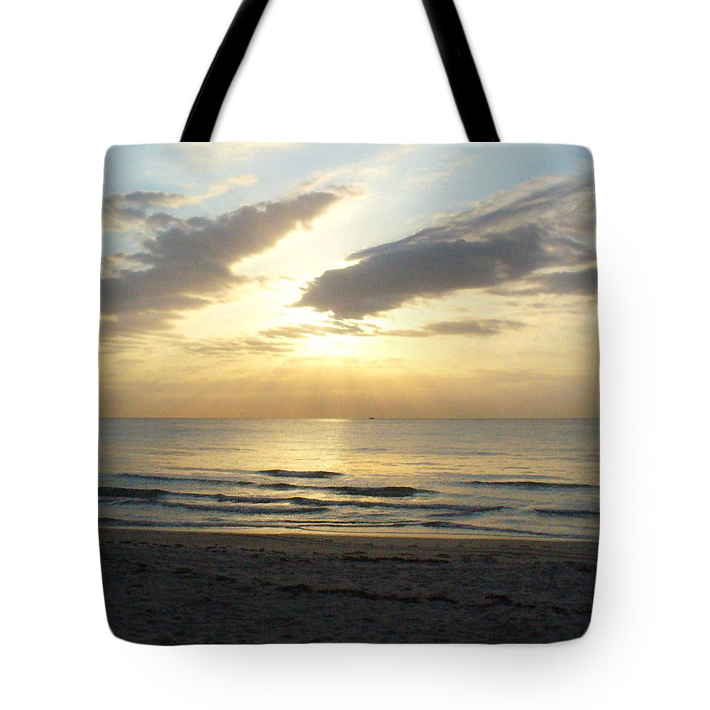 Seashore Tote Bag featuring the photograph Calm Seas by Peggy King