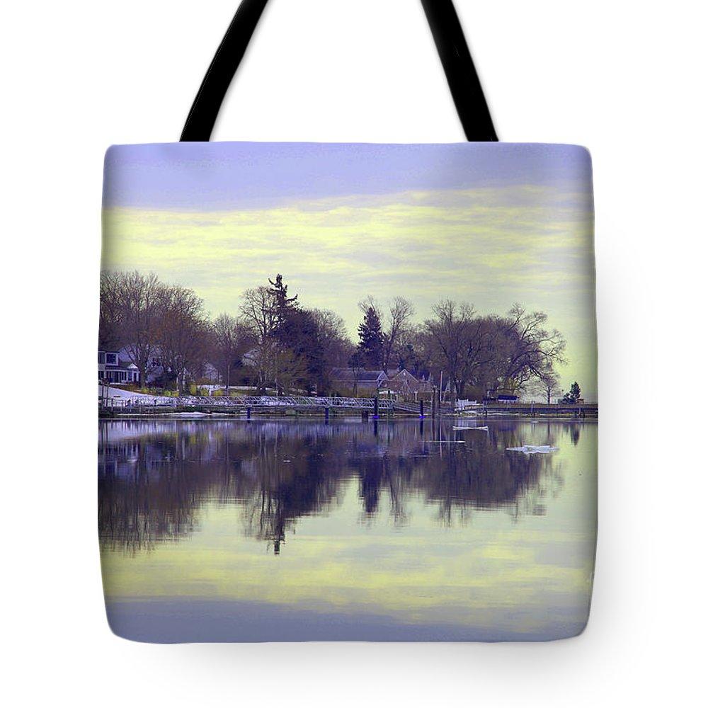 Coastal Tote Bag featuring the photograph Calming Lavendar Scene by Karol Livote