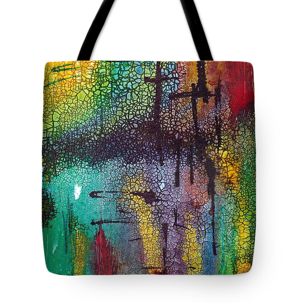 Cross Tote Bag featuring the painting Calvary by Susan Kubes
