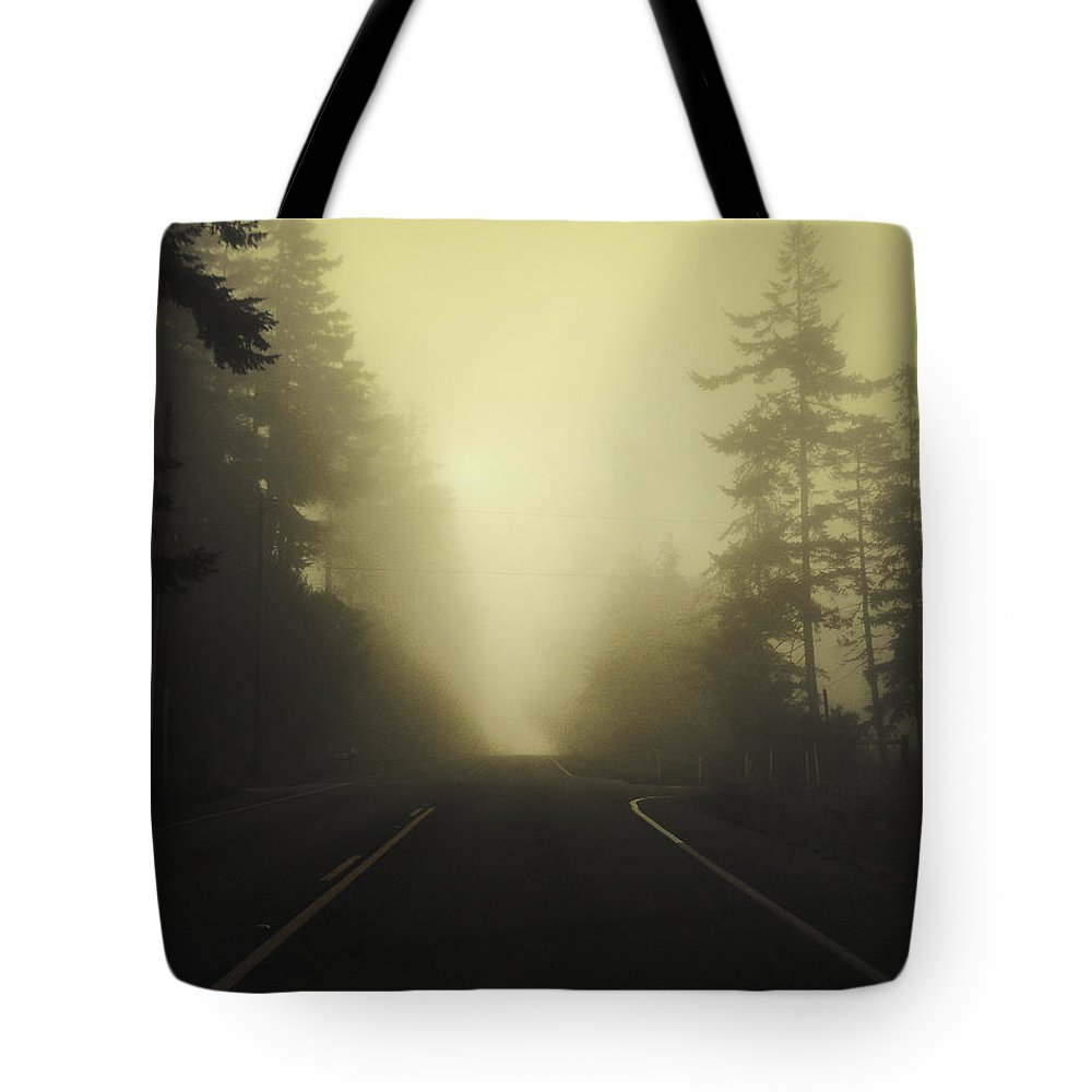 Fog Tote Bag featuring the photograph Camano Island Fog by Tim Nyberg