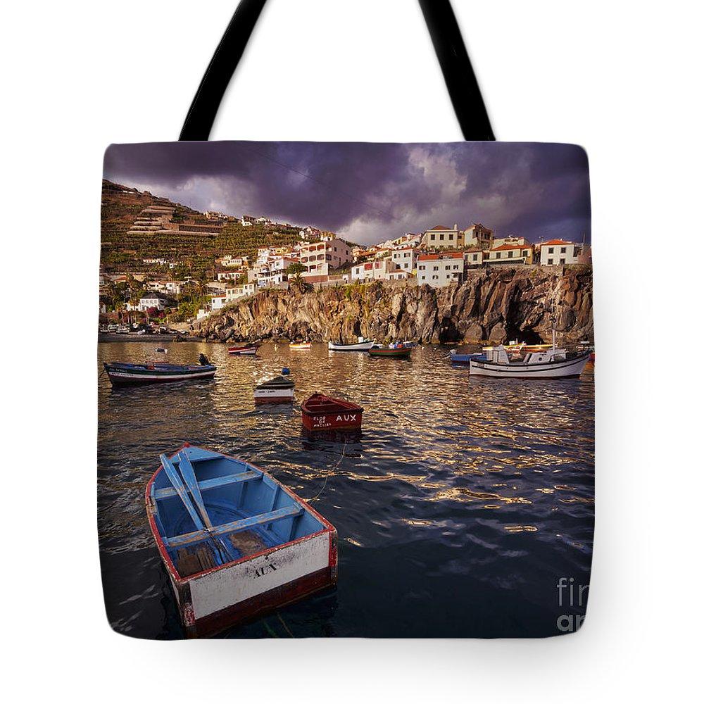 Portugal Tote Bag featuring the photograph Camara De Lobos, Madeira by Karol Kozlowski
