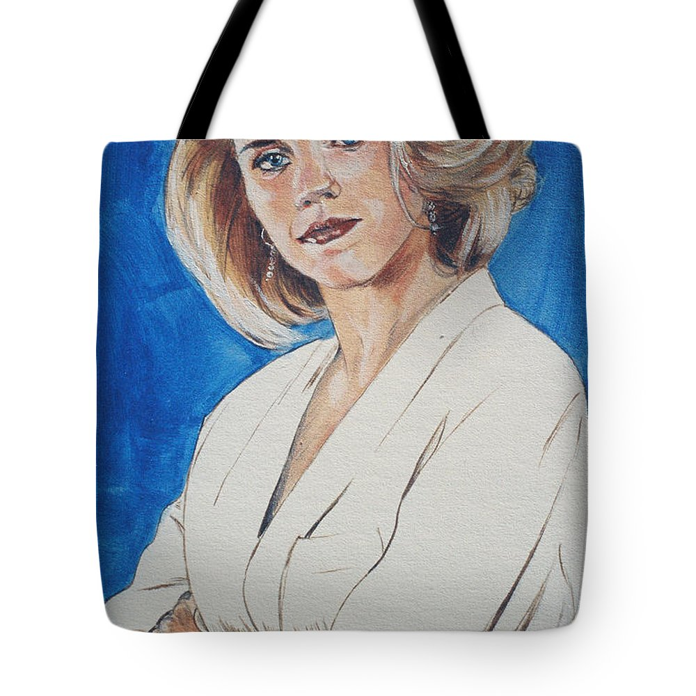 Cami Cooper Tote Bag featuring the painting Cami Cooper by Bryan Bustard