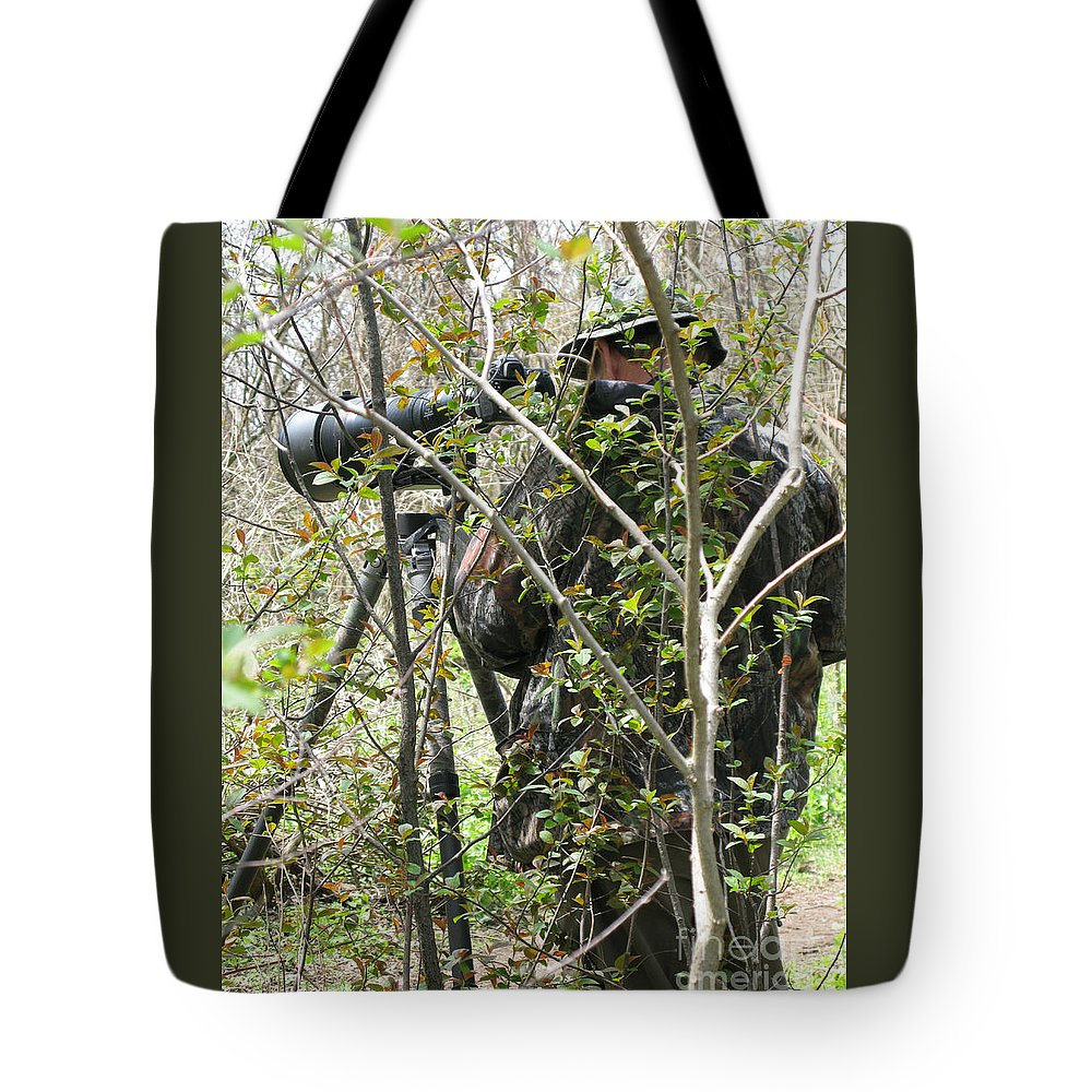 Photographer Tote Bag featuring the photograph Camouflage by Ann Horn