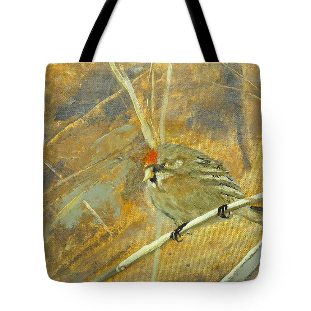 Camouflage Tote Bag featuring the painting Camouflage by Susan Bruner