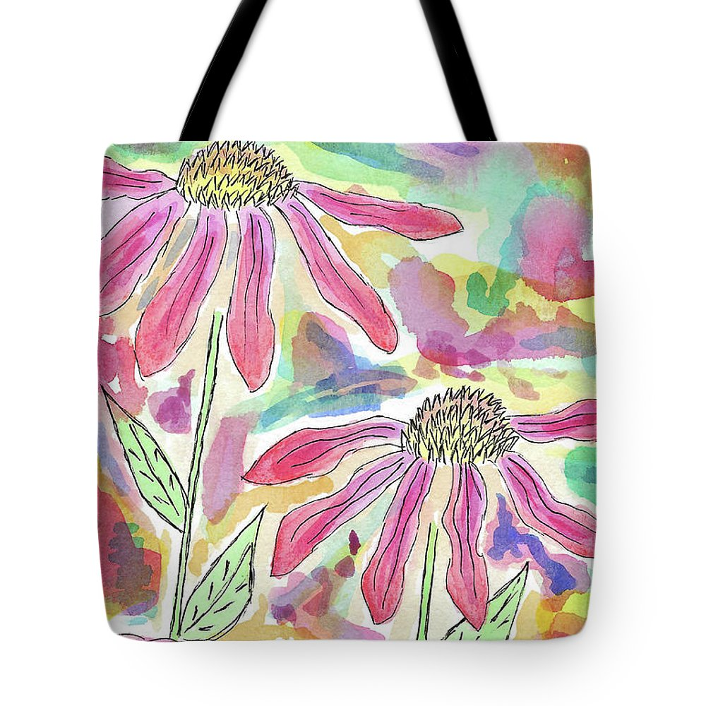 Watercolor And Ink Tote Bag featuring the painting Camouflage by Susan Campbell