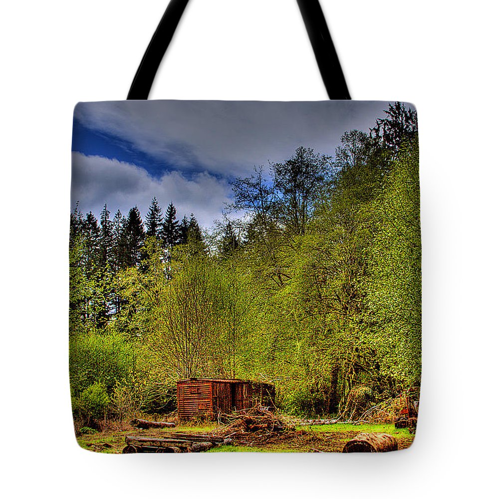 Camp 18 Tote Bag featuring the photograph Camp 18 Railroad Car by David Patterson