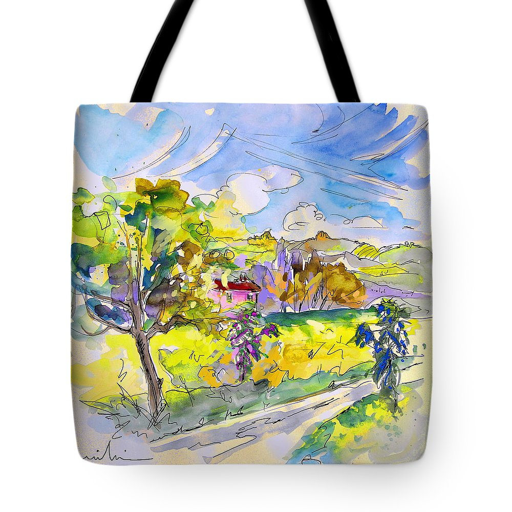Pyrenees Tote Bag featuring the painting Campagne Des Pyrenees by Miki De Goodaboom