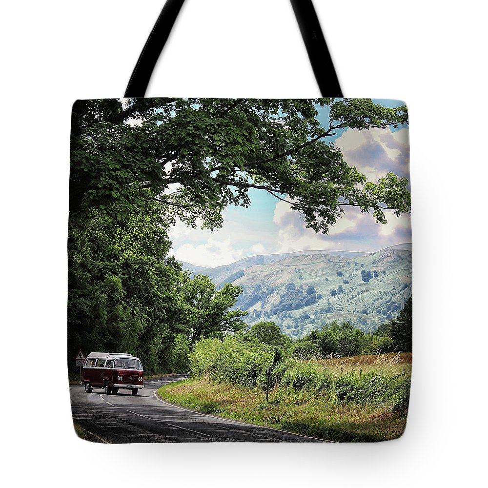 Van Tote Bag featuring the photograph Camper Travels by Martin Newman