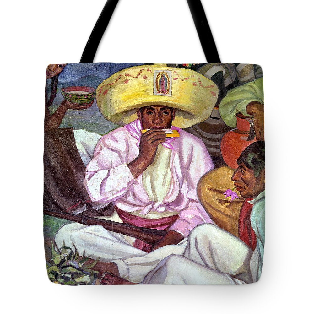 1922 Tote Bag featuring the photograph Camping Zapatistas, 1922 by Granger
