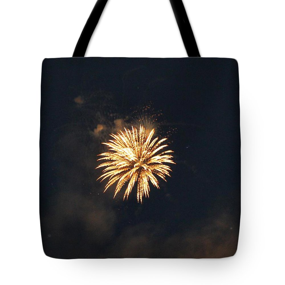 Fireworks Tote Bag featuring the photograph Canada Day Fireworks by Debbie Levene