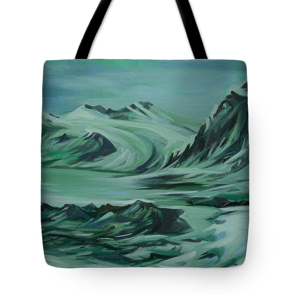 Canadian North Tote Bag featuring the painting Canadian North by Anna Duyunova