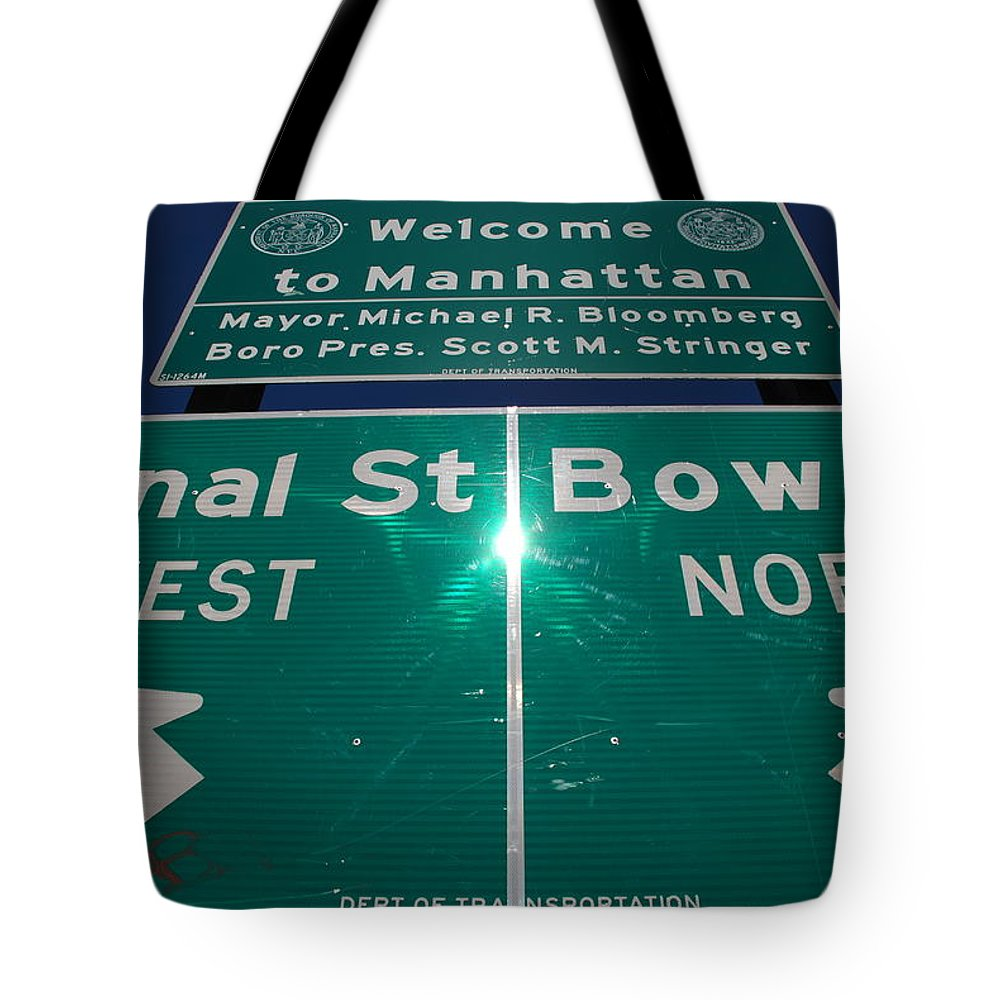 Pop Art Tote Bag featuring the photograph Canal And Bowery by Rob Hans