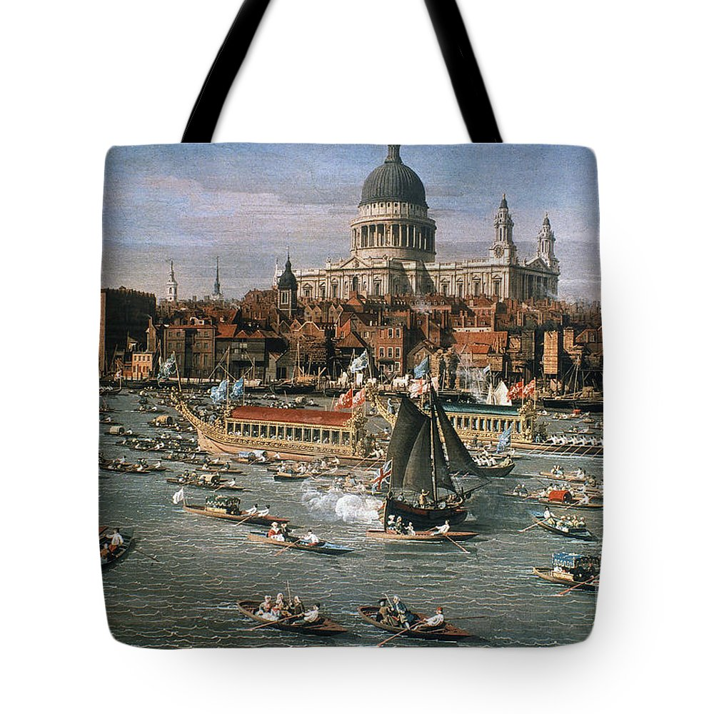 18th Century Tote Bag featuring the photograph Canaletto: Thames, 18th C by Granger