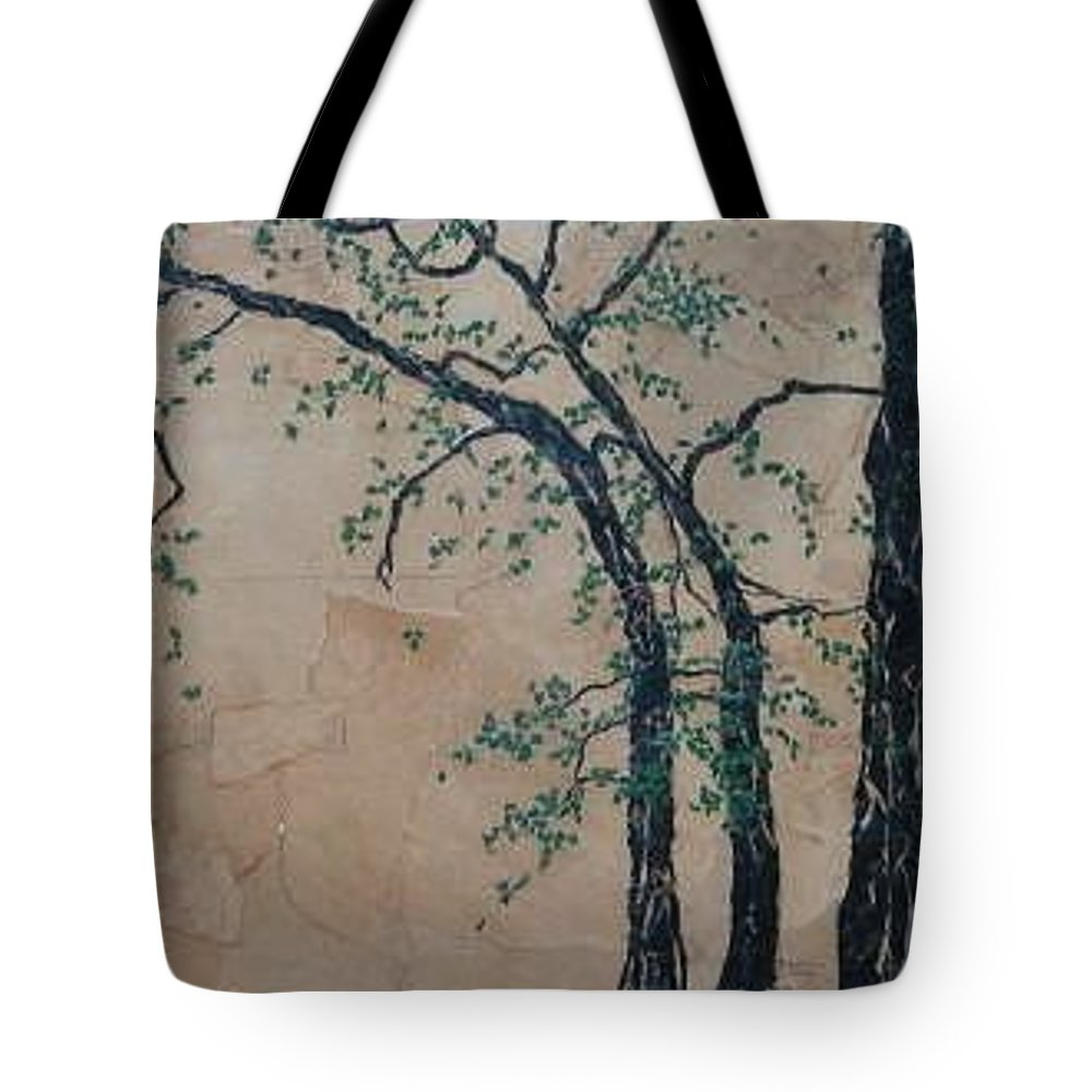 Leafy Tree Tote Bag featuring the painting Canandaigua Lake by Leah Tomaino
