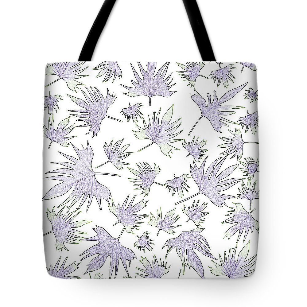 Canary Vine Leaves Tote Bag featuring the photograph Canary Vine Leaves - Purple And Green by Sandra Foster