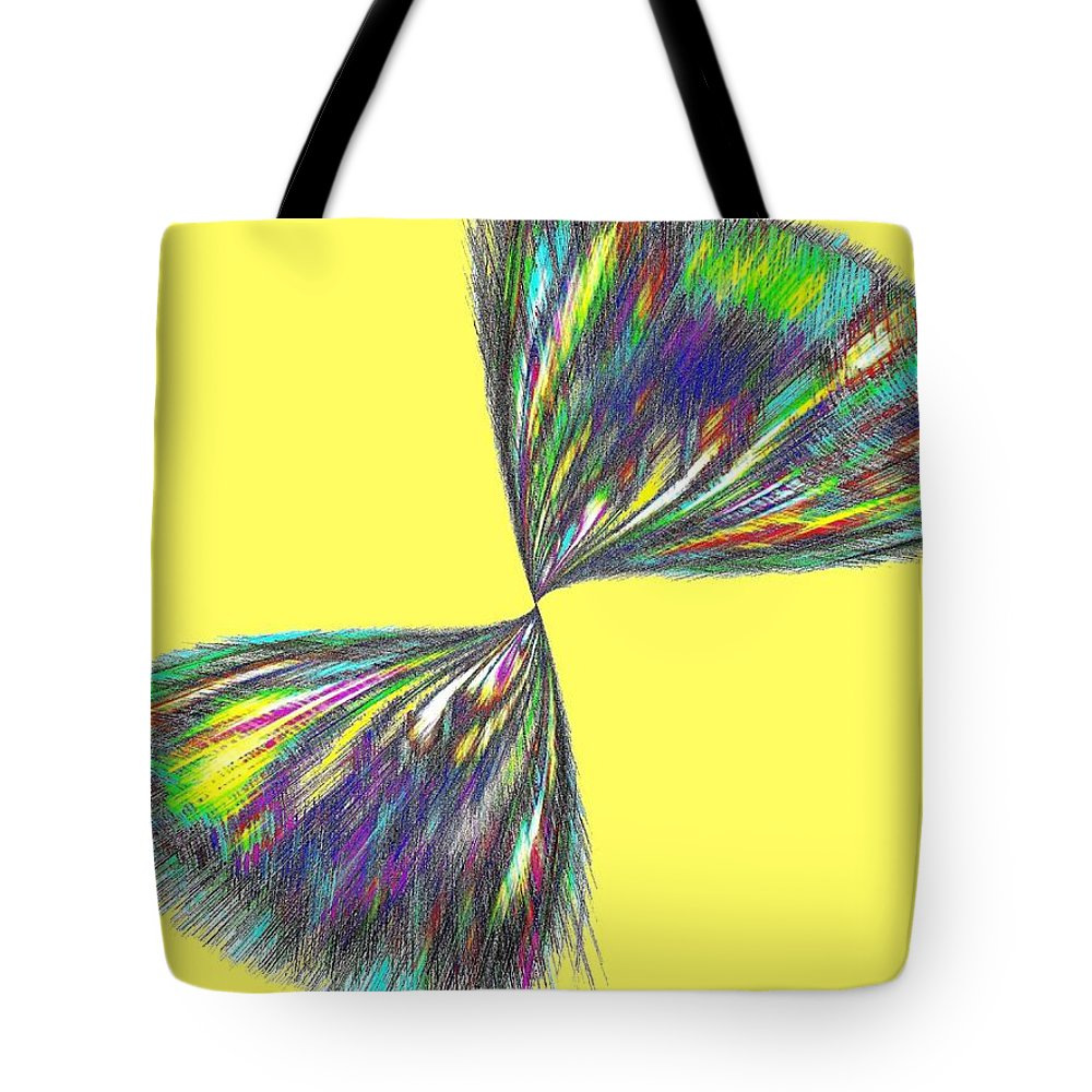 Abstract Tote Bag featuring the digital art Candid Color 12 by Will Borden
