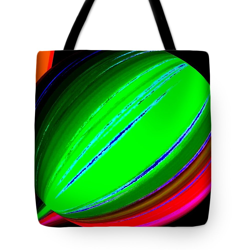 Abstract Tote Bag featuring the digital art Candid Color 5 by Will Borden
