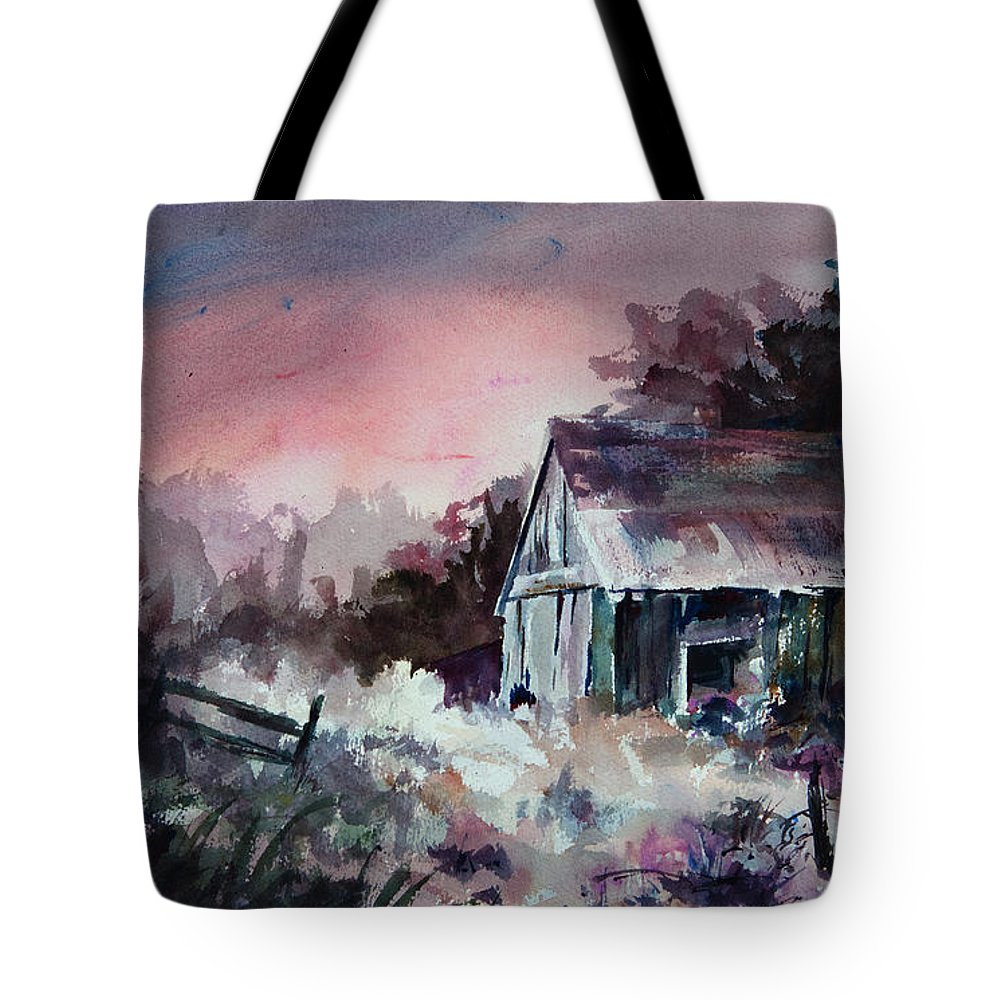 Shack Tote Bag featuring the painting Candy Cane by Rachel Christine Nowicki