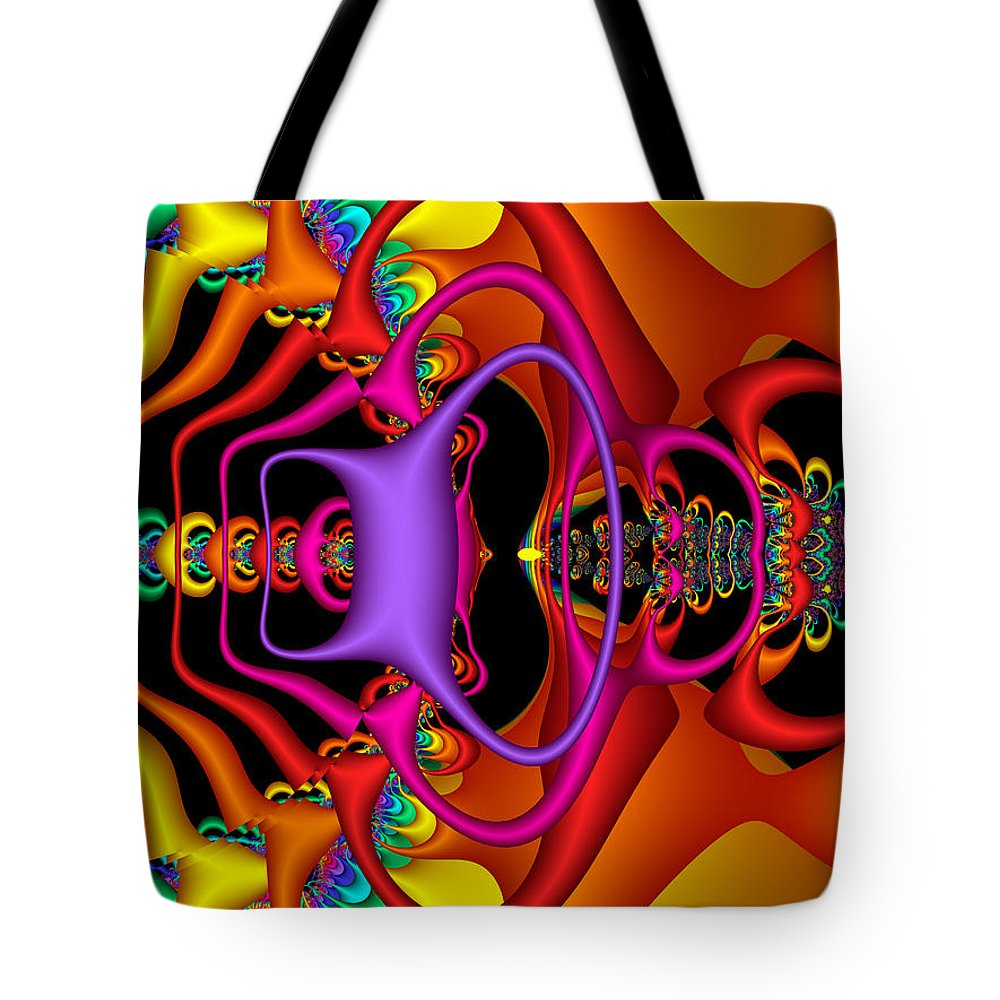 Colorful Tote Bag featuring the digital art Candy by Robert Orinski