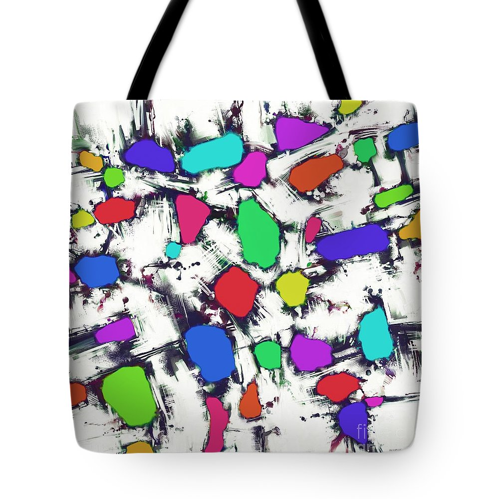 Candy Scatter Tote Bag featuring the digital art Candy Scatter by Keith Mills