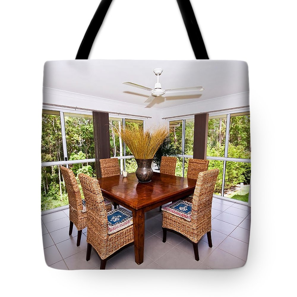 6 Tote Bag featuring the photograph Cane Dining Setting by Darren Burton