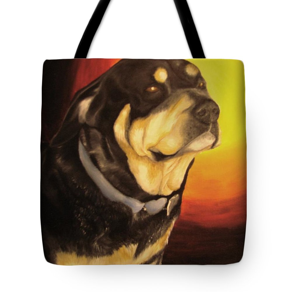 Paintings Tote Bag featuring the painting Canine Vision by Glory Fraulein Wolfe