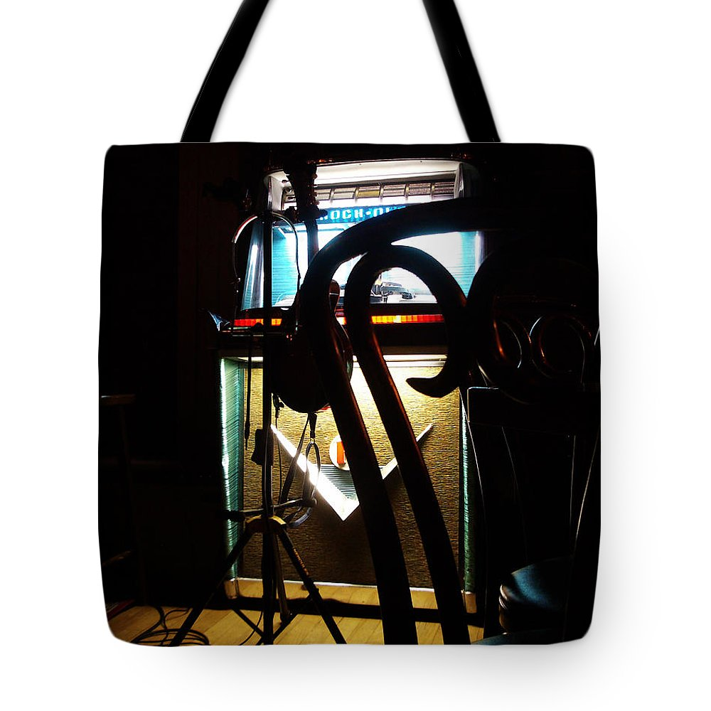 Music Tote Bag featuring the photograph Canned Music by Tim Nyberg