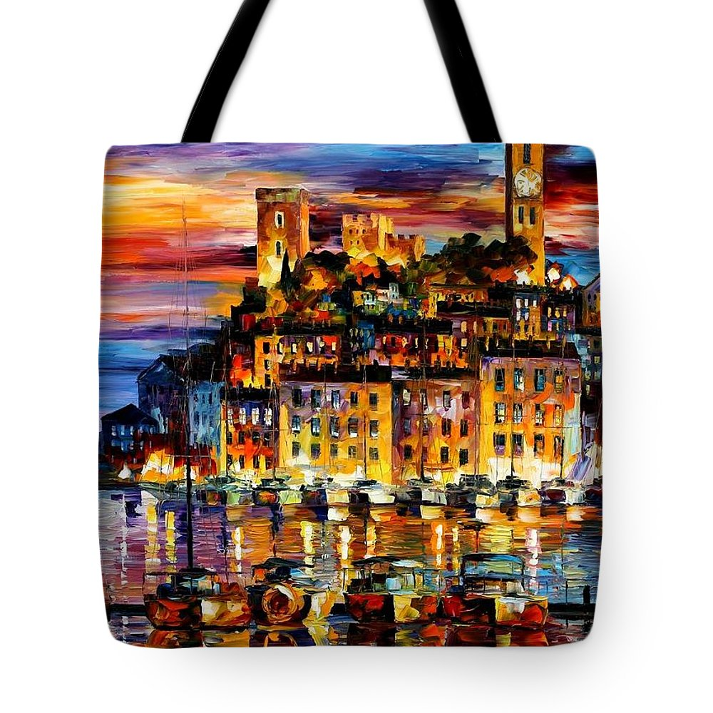 Afremov Tote Bag featuring the painting Cannes - France by Leonid Afremov