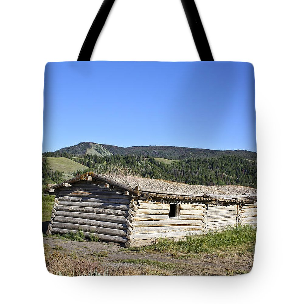 Cabin Tote Bag featuring the photograph Canningham Cabin Grand Tetons National Park by Teresa Zieba