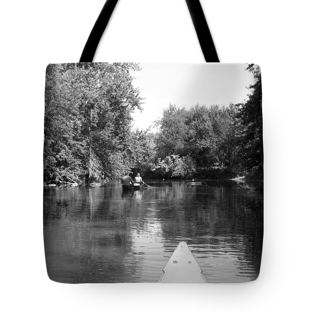 Canoe Tote Bag featuring the photograph Canoe Joy by Joni Moseng