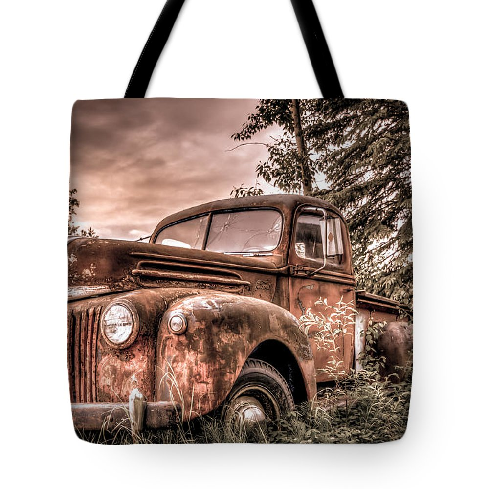 Old Tote Bag featuring the photograph Canoe Truck #2 by Chris Atwood