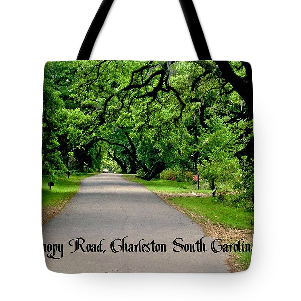 Plantation Road Tote Bag featuring the photograph Canopy Road by Gary Wonning