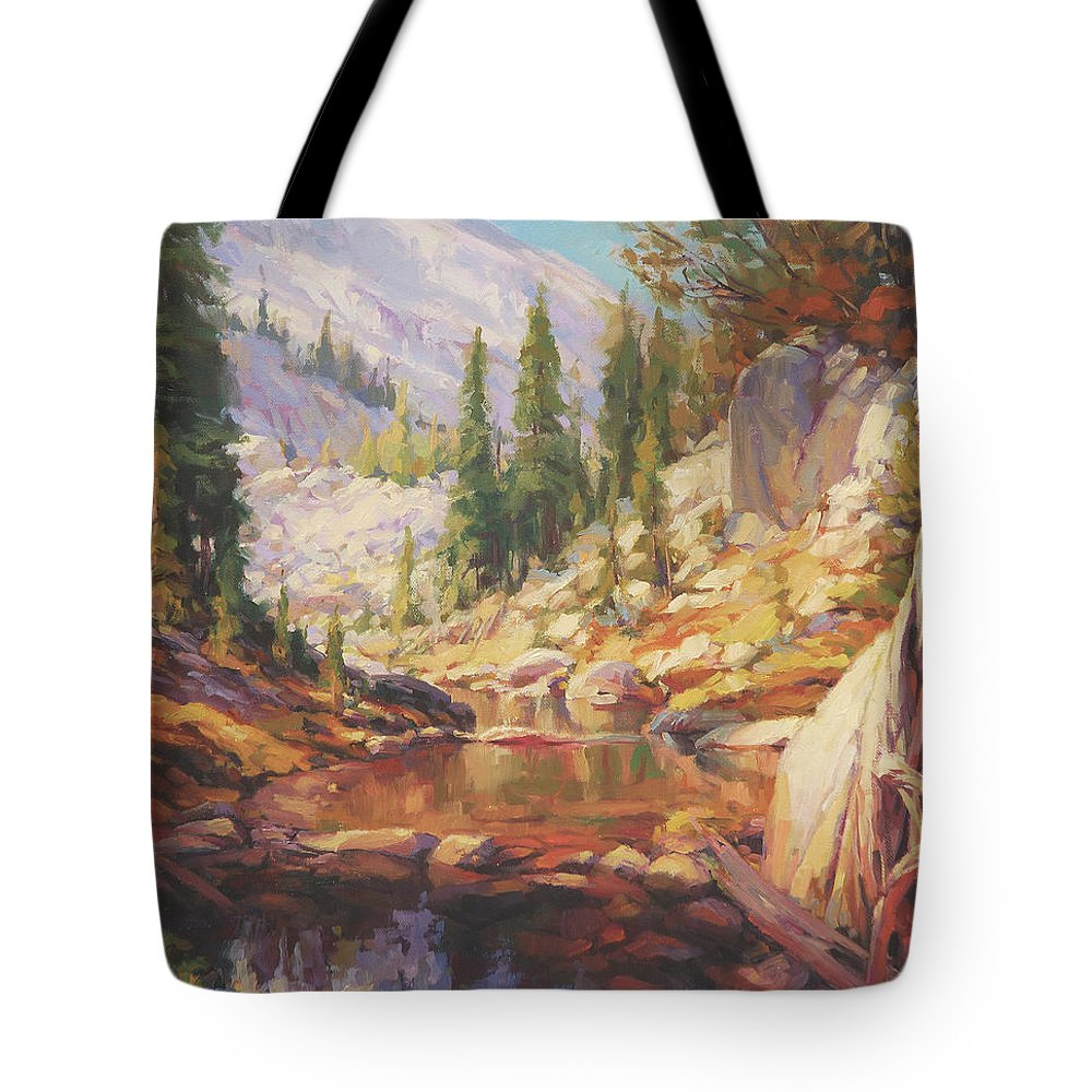 Wilderness Tote Bag featuring the painting Cantata by Steve Henderson