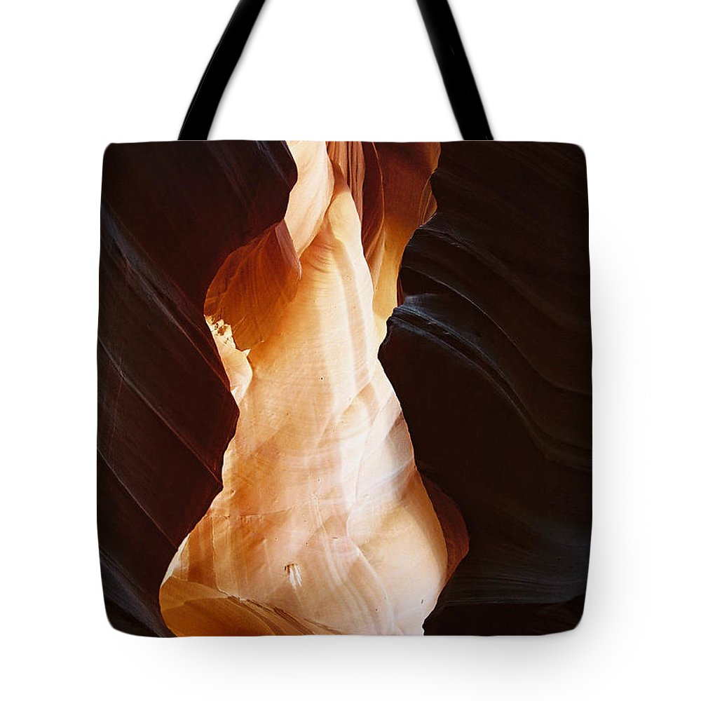 Landscape Tote Bag featuring the photograph Canyon Birth by Cathy Franklin
