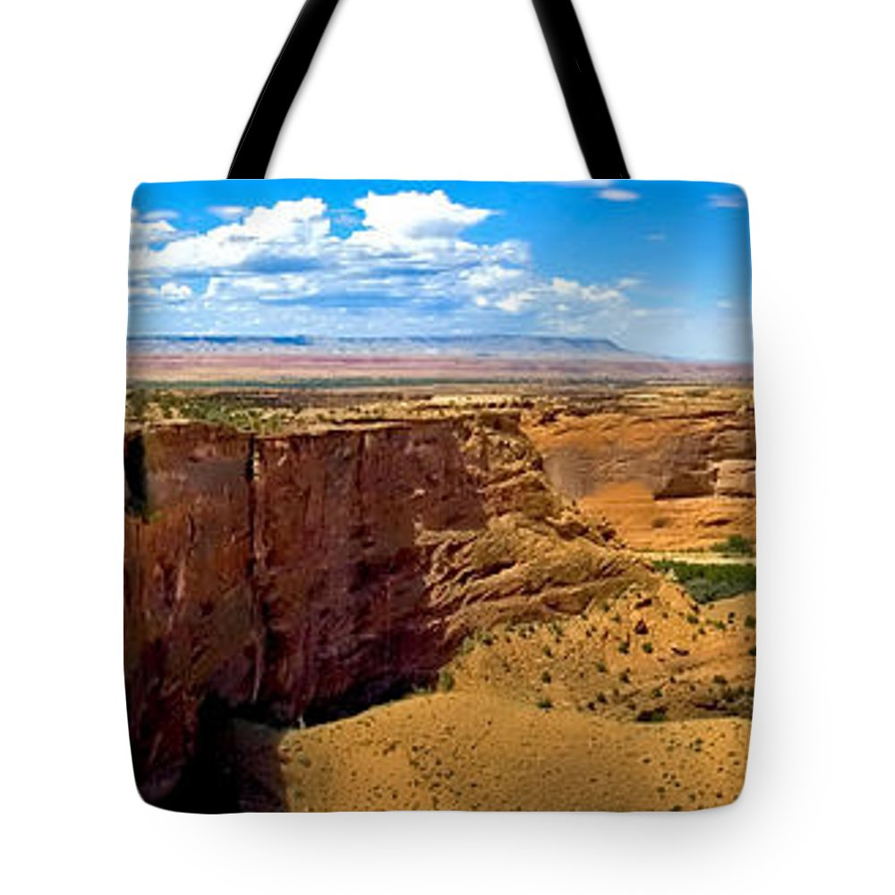 Canyon De Chelly Tote Bag featuring the photograph Canyon De Chelley Panoramic by Paul Basile
