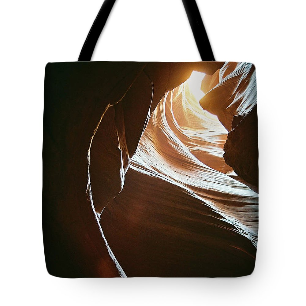 Landscape Tote Bag featuring the photograph Canyon Flares by Cathy Franklin