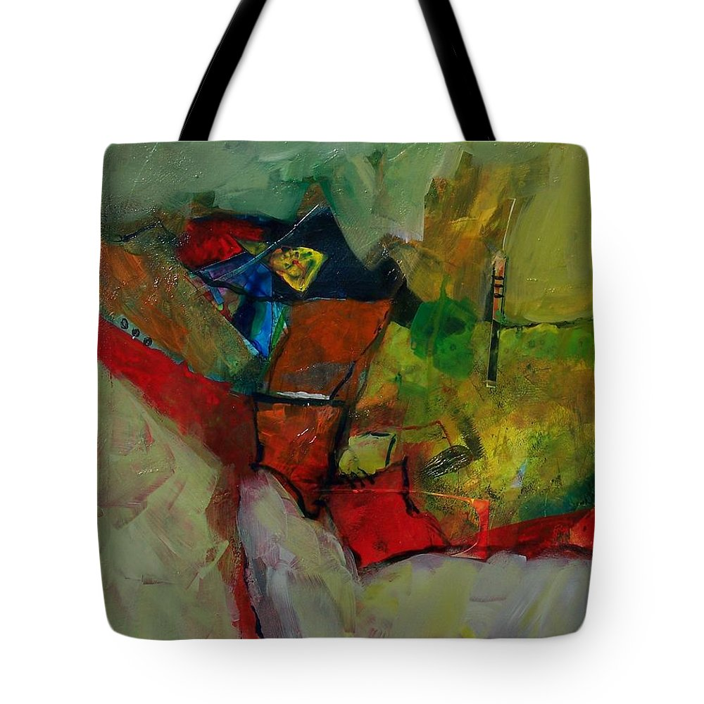 Abstract Expressionism Tote Bag featuring the painting Canyon Gems by Donna Frost