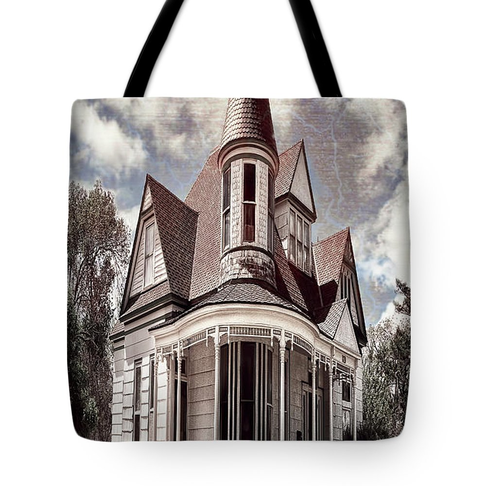 Architecture Tote Bag featuring the photograph Canyon Home 2 by Sherry Adkins