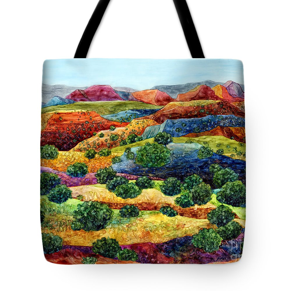 Canyon Tote Bag featuring the painting Canyon Impressions by Hailey E Herrera