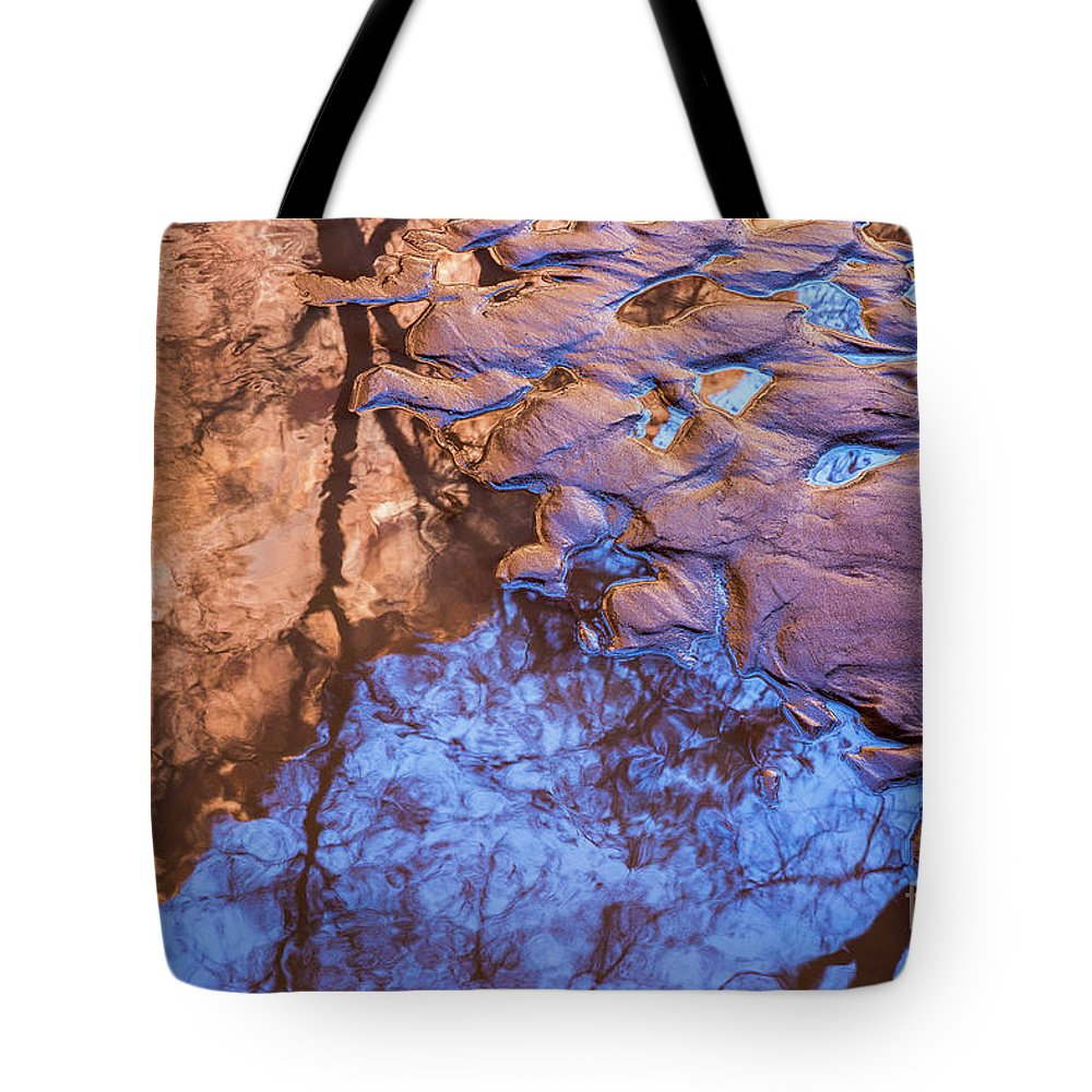 Southwest Tote Bag featuring the photograph Canyon Reflections by Anthony Bonafede