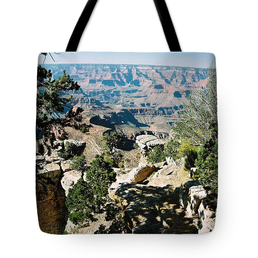 Grand Canyon Tote Bag featuring the photograph Canyon Shadows by Cathy Franklin