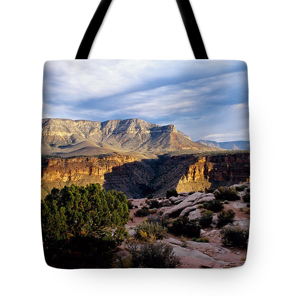 Toroweap Tote Bag featuring the photograph Canyon Walls At Toroweap by Kathy McClure