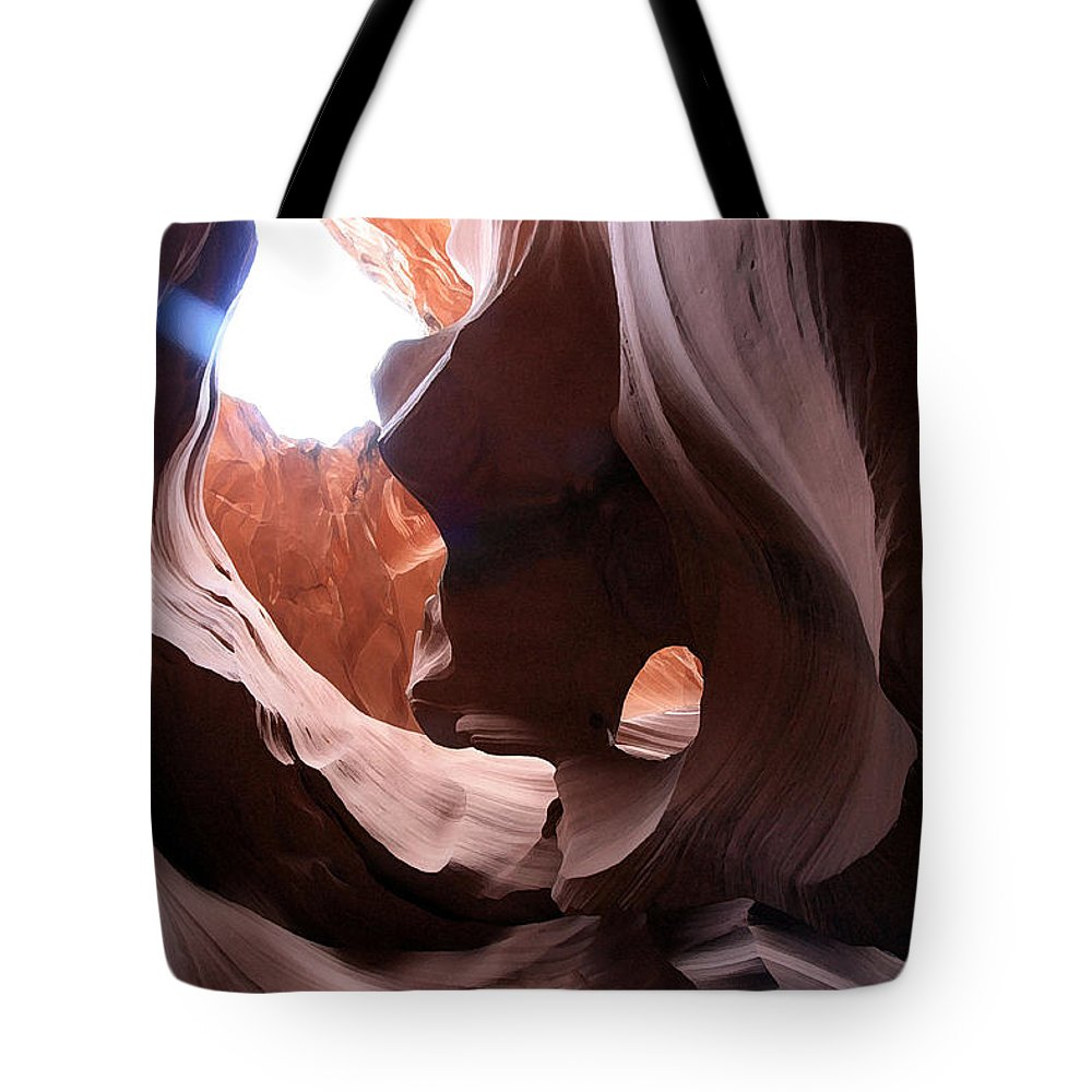 Landscape Tote Bag featuring the photograph Canyon Waves by Mary Haber