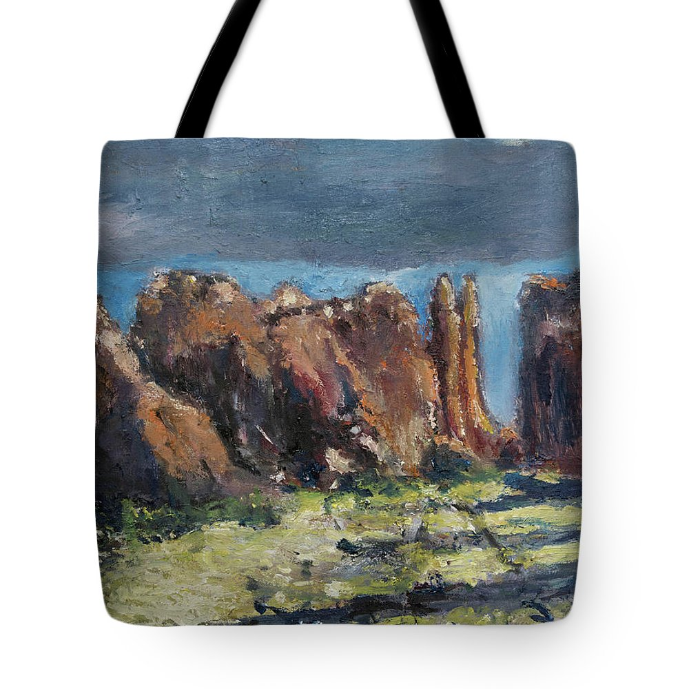 Canyonlands Tote Bag featuring the painting Canyonlands Utah by Craig Newland