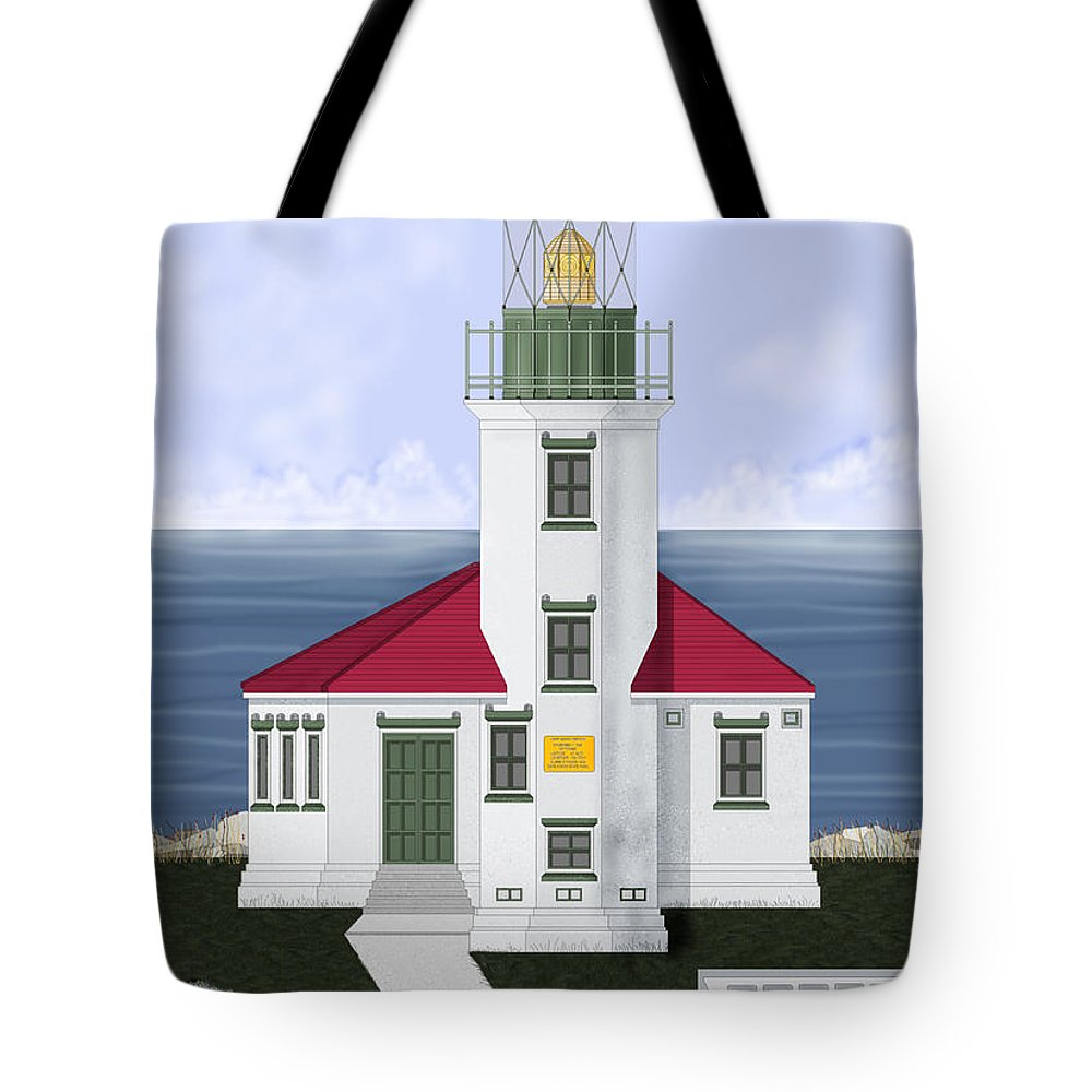 Cape Arago Tote Bag featuring the painting Cape Arago Oregon by Anne Norskog