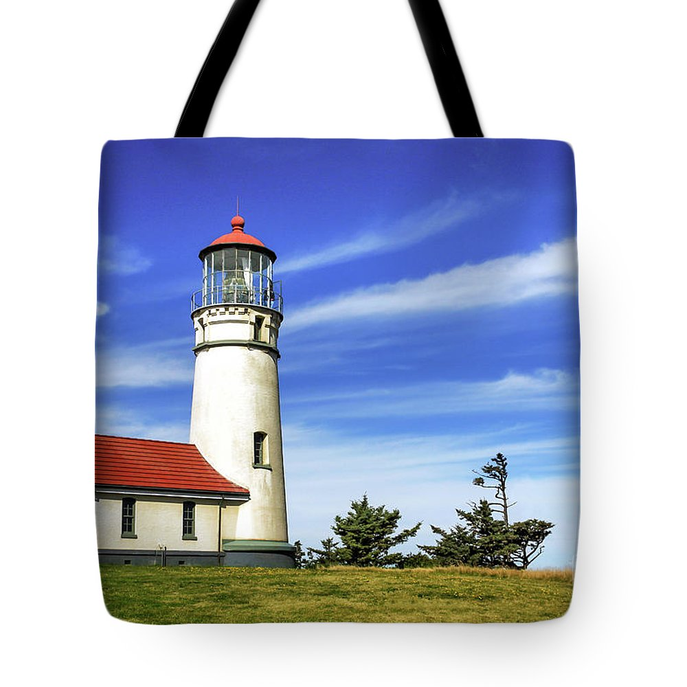 Lighthouse Tote Bag featuring the photograph Cape Blanco Lighthouse by James Eddy