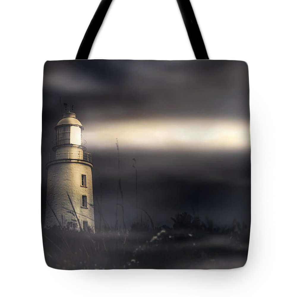 Lighthouse Tote Bag featuring the photograph Cape Bruny Lighthouse by Jorgo Photography - Wall Art Gallery
