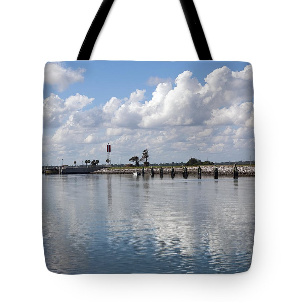 Florida Tote Bag featuring the photograph Cape Canaveral Locks In Florida by Allan Hughes